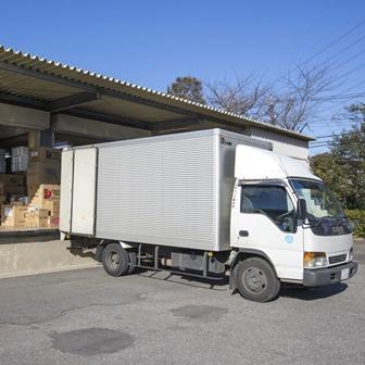 自社配送便による出荷作業